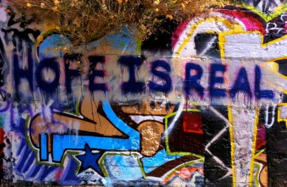 Hope Is Real graffiti
