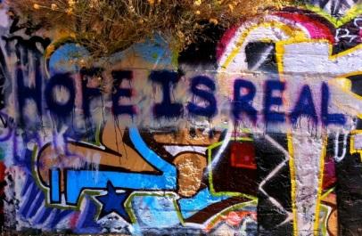 Hope Is Real graffiti